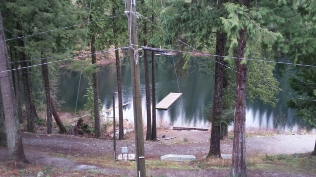 Swimming dock of the lake, shot from the balcony of my room.
